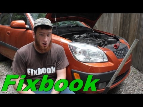 """Alternator, Power Steering, & A/C Drive Belt Replacement """"How to"""" Kia Rio5"""