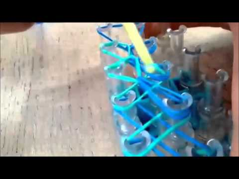 how to make spiral rainbow loom bracelet DIY