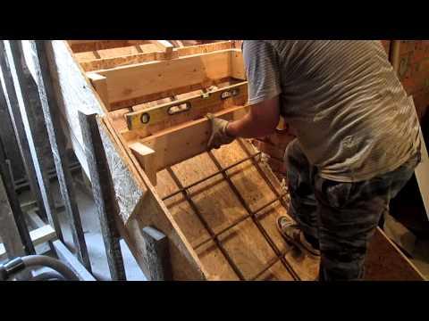 Как сделать лестницу из бетона на второй этаж своими руками
