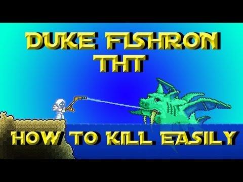 How to kill duke fishron easily terraria 1 2 4 try easy for Terraria fishing bait