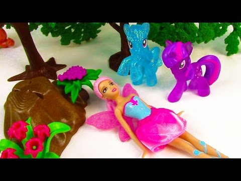 MLP Barbie Doll Mini Fallen Fairy Fantasy Twilight Sparkle My Little Pony Video Cookieswirlc