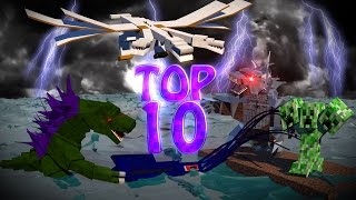Minecraft TOP 10 | Modded Top 10 Bosses - Ultimate Bosses! (Mobzilla, Hydra, 3 Headed Creeper)