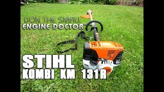 """Here's a review on the Stihl Kombi KM131R with the String Trimmer and Brushcutter attachments.See full specs here;Canadianhttp://en.stihl.ca/STIHL-Products/01478/KombiSystem.aspxhttp://en.stihl.ca/STIHL-Products/01478/KombiSystem.aspxUSAhttps://www.stihlusa.com/products/multi-task-tools/professional-kombisystem/Help me make videos!http://patreon.com/donyboy73Watch another video of a blown 2 cycle leaf blower here;https://www.youtube.com/watch?v=108Mb...Follow me on Facebook; https://www.facebook.com/pages/Donybo...Twitter;https://twitter.com/donyboy73Instagram: http://instagram.com/donyboy73/GOOGLE+ https://plus.google.com/u/0/b/1016213...Due to factors beyond the control of DONYBOY73 """"The Small Engine Doctor"""", it cannot guarantee against unauthorized modifications of this information, or improper use of this information. DONYBOY73 """"The Small Engine Doctor"""" assumes no liability for property damage or injury incurred as a result of any of the information contained in this video. DONYBOY73 """"The Small Engine Doctor"""" recommends safe practices when working with power tools, hand tools, lifting tools, jack stands, electrical equipment, blunt instruments, chemicals, lubricants, or any other tools or equipment seen or implied in this video. Due to factors beyond the control of DONYBOY73 """"The Small Engine Doctor"""", no information contained in this video shall create any express or implied warranty or guarantee of any particular result. Any injury, damage or loss that may result from improper use of these tools, equipment, or the information contained in this video is the sole responsibility of the user and not DONYBOY73 """"The Small Engine Doctor"""".#DIY"""