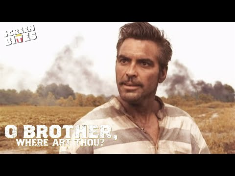 O'Brother Where Art Thou? - George Clooney Train Scene OFFICIAL HD VIDEO