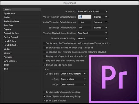 Episode 1 - Setting Up A Project - Adobe Premiere Pro CC 2015