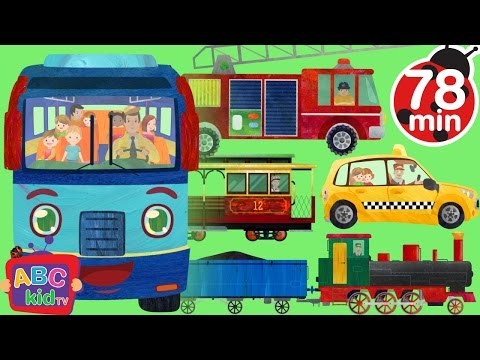 Wheels on the Bus and Vehicles | +More Nursery Rhymes & Kids Songs - Cocomelon (ABCkidTV)