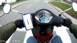 1. Piaggio Liberty 150 - short ride