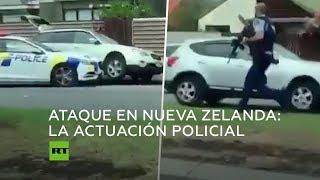 Ataque a mezquitas en Nueva Zelanda: un testigo graba la actuación policial