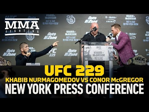 Khabib Nurmagomedov vs. Conor McGregor UFC 229 Press Conference - MMA Fighting