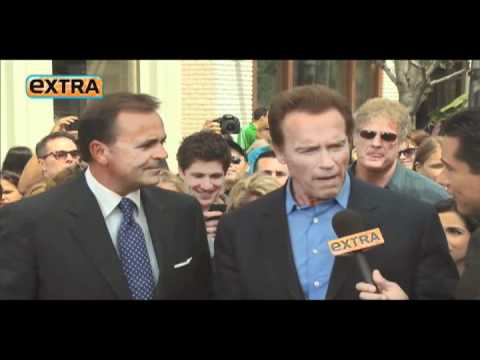 Rick Caruso and Arnold Schwarzenegger on Extra.mov