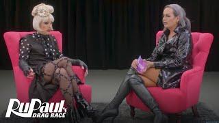 The Pit Stop w/ Raja & Katya | RuPaul's Drag Race (Season 9 Ep 2) | Logo | Now on VH1