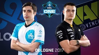 CS:GO - Cloud9 vs. Na'Vi [Overpass] Map 2 - Semifinal - ESL One Cologne 2017