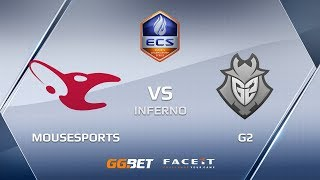 mousesports vs G2, inferno, ECS Season 6 Europe