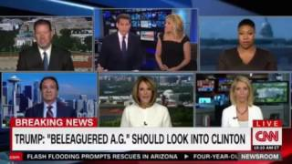 Trump attacks his AG calling him beleaguered and asking him why he is not investigating Hillary