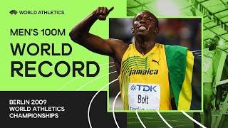 Video World Record | Men's 100m Final | IAAF World Championships Berlin 2009 MP3, 3GP, MP4, WEBM, AVI, FLV Agustus 2019