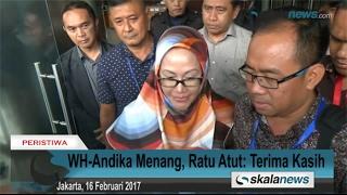 WH-Andika Menang, Ratu Atut: Terima Kasih
