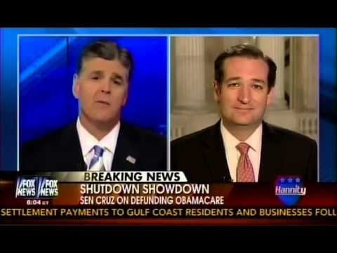 Hannity to Ted Cruz: Obamacare Defunding a 'Tipping Point for the Country'