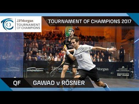 Squash: Gawad v Rösner - Tournament of Champions 2017 QF Highlights