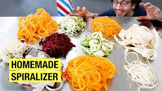 How to Make Vegetable Noodles Without a Spiralizer ! by Alex French Guy Cooking