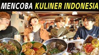 Download Video ORANG KOREA MENCOBA MAKAN KULINER INDONESIA I 인도네시아 음식 먹기 part.2 MP3 3GP MP4