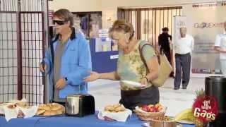Toaster Hits Blind Man Prank