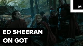 Ed Sheeran finally made his long-awaited Game of Thrones cameo. While it was a bit awkward to see him as a Lannister soldier, his voice is still golden.