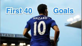 Die ersten 40 Tore des Eden Hazard für den FC Chelsea
