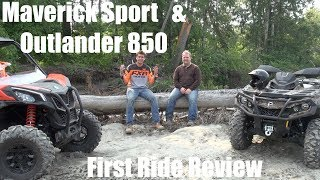 10. 2019 Maverick Sport & Outlander 850 First Ride After Action Report
