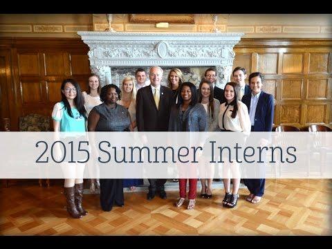 Governor's 2015 Summer Interns