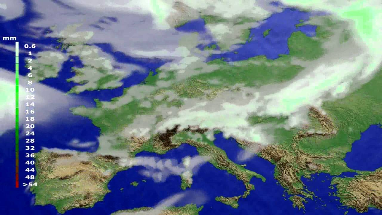 Precipitation forecast Europe 2016-07-28