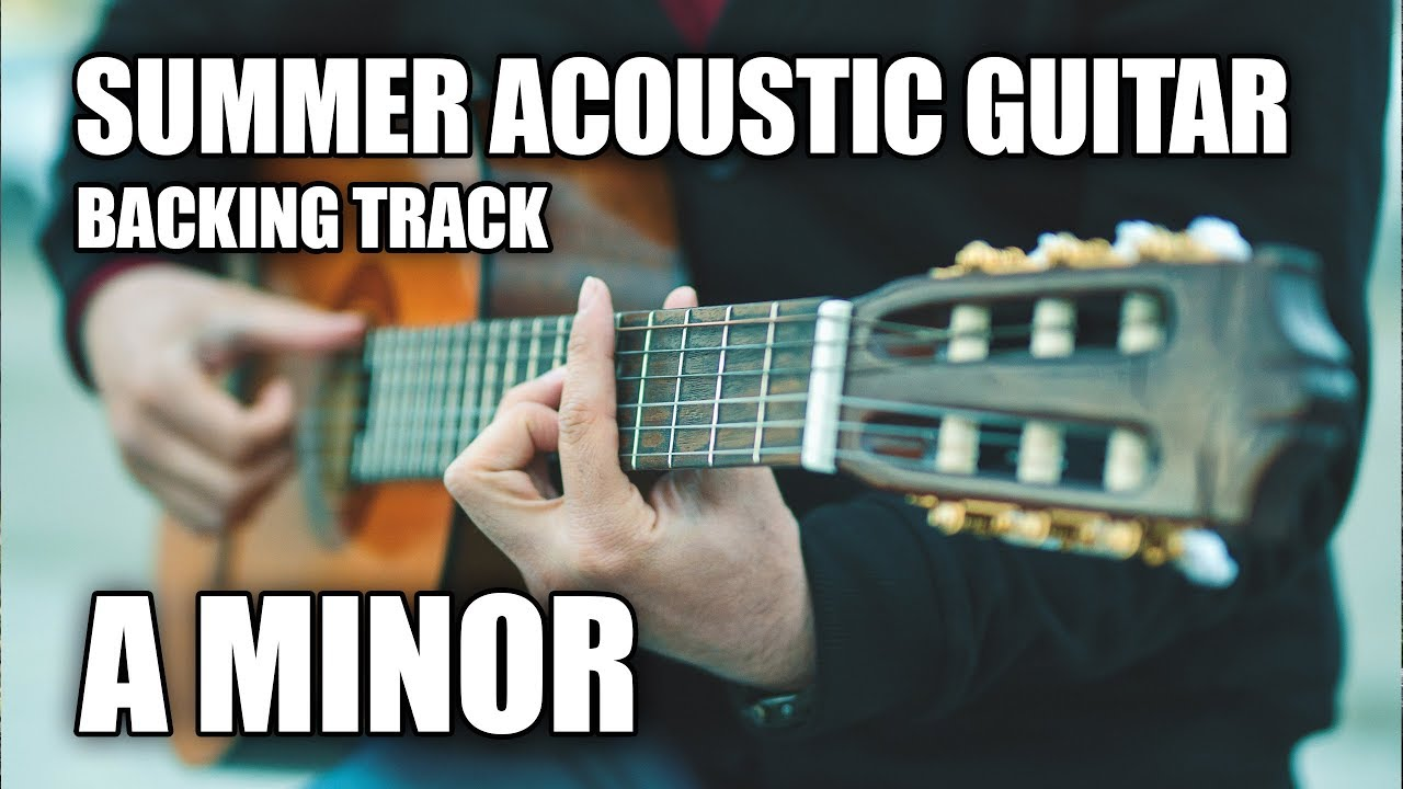Summer Acoustic Guitar Backing Track In Am