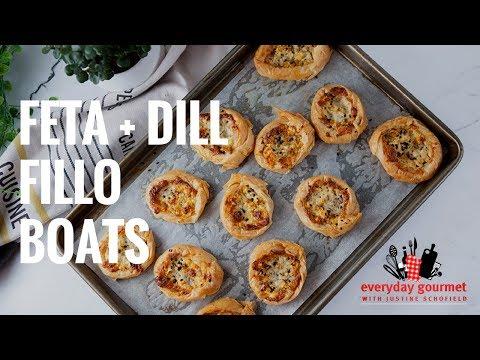 Feta and Dill Fillo Boats | Everyday Gourmet S7 E2