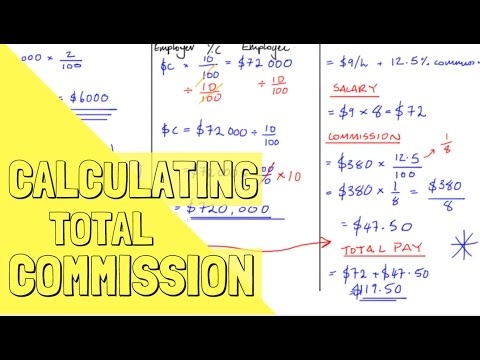 Mathematics: How to Calculate Commission (examples)