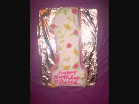 Number 1 cake – 1st Birthday cake decorating – ideas – with flower vine