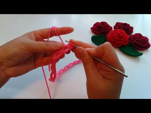 Easy to Crochet Rose Flower