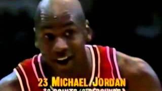 Michael Jordan Famous Eyes Closed Free Throw to Mutombo In Full