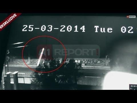 film aksion - TIRANË - Ora 02:07 e datës 25 mars 2014. Kamerat e sigurisë filmojnë momentin e lëvizjes së predhës dhe goditjen me murin e vilës tre katëshe të kryekomunari...