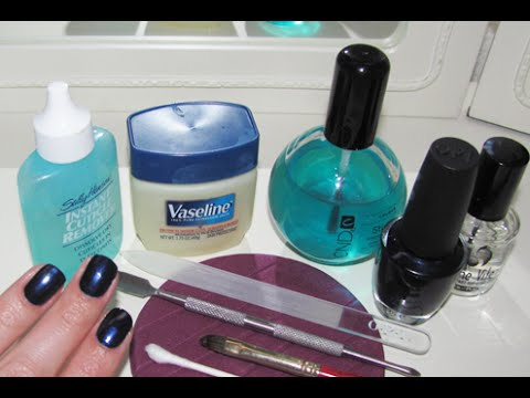 manicure - Fast forward to 1 min to skip the intro! I've been meaning to make this video for a while. Check out how to clean up your cuticles if you haven't already! ht...