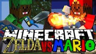Download Lagu Minecraft MARIO Mod Vs ZELDA Mod - Mod Battles Mp3