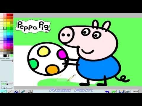 Игра peppa pig раскраска