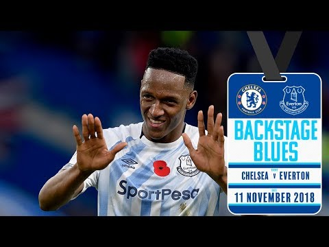 Video: FAN GETS YERRY MINA'S SHIRT | BACKSTAGE BLUES: CHELSEA V EVERTON