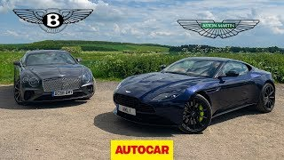 Bentley Continental GT vs Aston Martin DB11 AMR | Two great GT cars reviewed | Autocar by Autocar