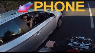 """Motorcyclist gets revenge when handing back driver's dropped wallet. Driver gets immediate comeuppance after cutting off motorcyclistThe British rider's helmetcam captured the moment a silver hatchback forced him to slow down when he pulled out in front.While for many a beep would have sufficed, this biker saw an opportunity he couldn't pass up.The impatient driver of the car left his wallet and iPhone on the roof of his car, a decision he would quickly come to regret.Remarkably the phone stayed fixed above the driver's door, but when the wallet flew off, the motorcyclist picked it up and pursued the car at speed to return it.The biker beeped and flashed the driver to pull over, only to be flipped the middle finger by the motorist who surely assumed the man was still angry.If he wasn't mad before, he certainly was now.""""Thank you so much bruv,"""" the clearly remorseful young male said as the motorcyclist showed what was in his hand.Too little too late it seemed, the motorcyclist threw his wallet into the car, picked his iPhone off the roof, showed it to the driver and then dropped that on the pavement before speeding away.""""I normally never lose my temper on the road, even after he cut me up I was trying to give him his wallet back,"""" the man who posted the clip on YouTube said.""""But then he proceeded to flip me off and thats (sic) why dropped his phone on the ground.""""Biker returns driver's wallet after he left it on roof of car and is thanked with flash of the finger… so he smashes phone he also rescued on the roadVIDEO footage appears to show the moment a biker gets revenge on a motorist who flashes the finger as he tries to return his lost wallet.The biker appears to throw the apparently ungrateful motorist's wallet through his window before tossing his phone – left on the roof of his car – to the floor.The scenes posted to YouTube show a wallet fly off the roof of a car as it leaves a petrol station.A camera on the biker's helmet captures the rider stopping to collect"""