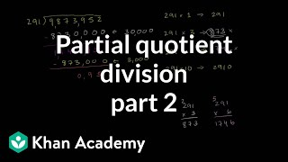 Partial Quotient Method Of Division 2