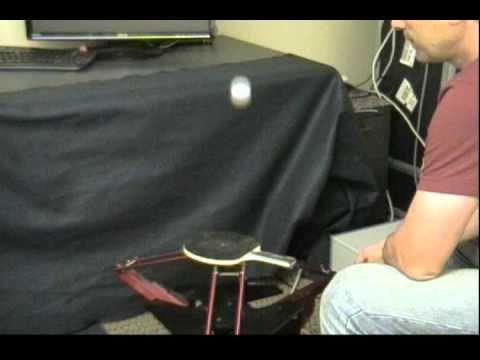 Robot juggles two pingpong balls