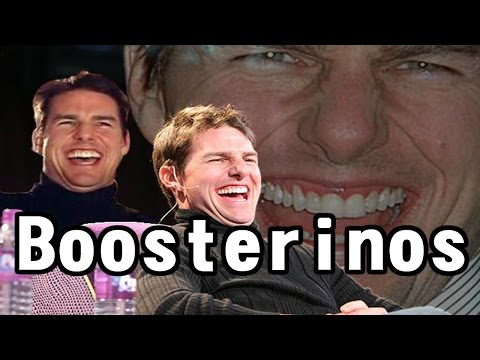 "guy cant stop laughing at the word ""boosterinos"""