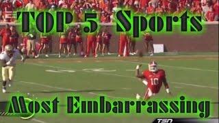 TOP 5 Sports Most Embarrassing Moments HD 2014
