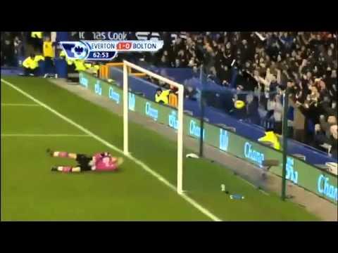 Tim Howard goal Vs Bolton 04.01.12