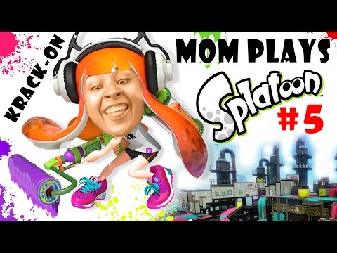 Lets Play SPLATOON Part 5: Mom & the Krak-On Roller! Turf War in Saltspray Rig! (FGTEEV FUN!) (видео)