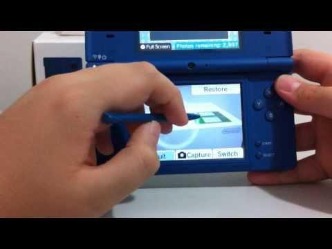 Demonstração Nintendo DSI Blue
